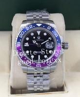 Wholesale bracelets gems resale online - Top Men s Jubilee Bracelet Watches Mens Blue Bezel Dial Watch Automatic Men Gmt II Sapphire Crystal Blro Perpetual Wristwatches