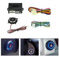 sistemas de arranque de alarma de coche al por mayor-RFID Alarma del automóvil Motor del automóvil Botones de arranque y arranque del motor Encendido Arrancador remoto Transpondedor Sistema inmovilizador Botón de encendido fijo