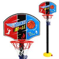 redes de basquete ao ar livre venda por atacado-Indoor ao ar livre portátil basquete net aro encosto ajustável pólo suporte crianças # 15225