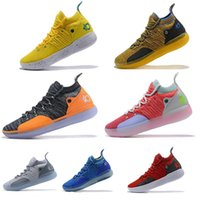 Wholesale kevin durant size orange basketball shoes for sale - Group buy Newest KD EP White Orange Foam Pink Paranoid Oreo ICE Men Basketball Shoes Kevin Durant XI Mens Designer Trainers Sneakers Size