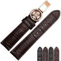 bracelet de montre en cuir 18mm achat en gros de-Nouvelle montre bracelet en cuir véritable noir watchbands ceinture bracelet de montre bande 18mm 19mm 20mm 21mm Accessoires 22mm bracelet