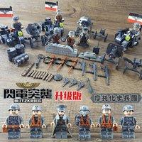 военное оружие оптовых-WW2 военное оружие немецкой армии спецназ строительные блоки кирпич набор фигур совместимые Legoing игрушки для детей