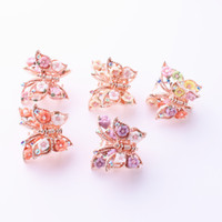 ingrosso piccole barrette-Flower Small Hair Clamps Hairpin Accessori per le donne Ragazze Lady Forcine Butterfly Barrettes Hair Clips Headwear
