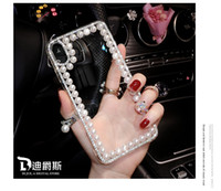 Wholesale iphone shell drill for sale - Group buy Suitable for iPhoneX mobile phone shell pearl edge Huawei mobile phone shell new silicone drill women s trendy brand full edge