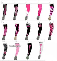new 2019 Pink Football Flame faith love ribbon cancer breast arm sleeve Compression Arm Sleeve Moisture Wicking Pink Ribbon Breast