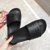 Wholesale toes covers flat sandals online - New Men Women Sandals Slide Summer beach shoes Fashion Flat Slippery unisex peep toe Sandals Slipper Flip Flop G4072