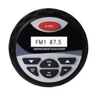 auto-audio-system usb großhandel-Marine Wasserdichte Bluetooth Stereo Radio Audio FM AM Empfänger MP3 Player Sound System AUX USB Für Motorrad Boot SPA UTV ATV auto