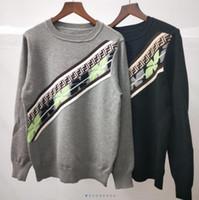 chaqueta carta pareja al por mayor-19SS diseñador de las mujeres suéteres de nuevo de la manera completo de la carta de impresión suéter del O-cuello flojo modelos versión par suéter chaqueta de vestido de las mujeres