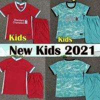 camisa de futebol preto de qualidade tailandesa venda por atacado-2021 Salah Liverpool camisa de futebol infantil 19 20 21 HENDERSON MINAMINO MANE camisa de futebol infantil VIRGIL ELLIOTT camisa de futebol ADRIÁN FIRMINO conjuntos de crianças