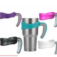plastic cup holders for cars 도매-저렴한! 휴대용 30온스 플라스틱 컵 주방 음료 용기 도구를 처리하는 뜨거운 판매 차를 한잔 처리 텀블러 홀더에게 5 개 색상 처리