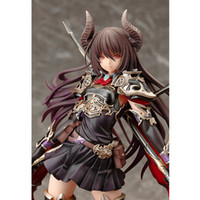 Wholesale beautiful figure girls resale online - 24 Cm Anime Game PVC Action Figure Rage Of Bahamut Dark Blade The Dragon Knight Forte Beautiful Girl Model Toys Gift
