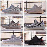 ingrosso super perfette scarpe-adidas yeezy 350 V2 off white boost sneakers 2.0 GID Hyperspace da uomo scarpe da corsa da donna vera da CLAY statiche scarpe da ginnastica firmate Scarpe da basket