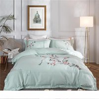 marcar folha venda por atacado-Carta estilo ocidental cama Bag Suit Folha de alta qualidade 4 peças Bedding Set Moda Mark Home Textiles Suit rei conjuntos de cama tamanho luxo
