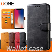 Wholesale covers for cell phone galaxy for sale – best For iPhone Pro Xs Max Xr X Note S10 Wallet Case Luxury PU Leather Retro Flip Stand Cell Phone Back Case Cover with Credit Card Slots