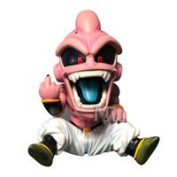 ejderha topu z rakamlar kutusu toptan satış-Dragon Ball Z Süper Saiyan Orta Parmak Evil Majin Buu Kutulu PVC Action Figure Modeli Koleksiyonu Oyuncak Hediye Y190529