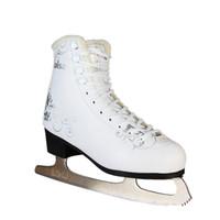 figuras de pvc adulto venda por atacado-2018 New Adulto Crianças Crianças Professional quentes térmica Shoes Thicken Figure Skating Ice patins com lâmina PVC impermeável Branco