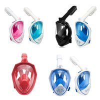 Wholesale dive masks camera resale online - 7 Colors Underwater Diving Mask Snorkel Set Swimming Training Scuba Full Face Snorkeling Mask Anti Fog With Camera Stand C6665