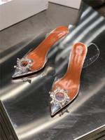 düğün çiçek yüksek topuk toptan satış-Payetler ile bayanlar Sandalet Düğün Ziyafet Rhinestone çiçek Dekorasyon Yaz Tarzı Gelinlik Sivri Ajur Yüksek Topuklu sandalet