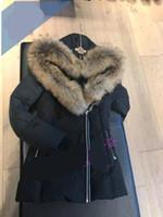 ingrosso parka marrone delle donne-Dhl Winter Women's Down Parkas Mack age Brand Wolf Fur Giacche Zippers Designer Jacket Donna AKIVA-F4-1 GIACCA Cappotto caldo Cappotti