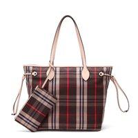 ücretsiz teslimat çantaları toptan satış-Eski Cobbler Kadın tek omuz çantası klasik Ekose Kaplı tuval çanta en kaliteli Makyaj Çantası moda Anne çantaları Ücretsiz Teslimat