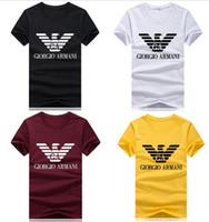 ingrosso magliette di mens lycra-T-shirt manica corta da uomo 2019 Tee 9 colori taglie forti S-5XL T shirt da donna Uomo 100% cotone T-shirt da uomo di qualità superiore Tops