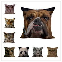Wholesale 3d case animals for sale - Group buy Creative D animal pillow case cm cotton and linen pillow cover car waist pillowcase sofa cushion cover home decoration