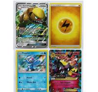 ingrosso giochi da tavolo-Carte 324pcs / set ORIGINI ANTICHE Carte Cartoon Inglese Trading Card Gioco di carte Anime Pikachu Model Card Party Giochi di carte da gioco