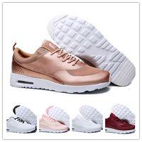 mulher, correndo, sapatos venda por atacado-Designer de homens casuais mulheres thea 87 zapatillas mujer tênis Chaussure femme Trainer Leve Tênis de Caminhada Respirável 36-45