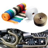 Wholesale cloth tapes for sale - Group buy Universal Motorcycle Exhaust Pipe Thermal Insulation Warp Modified Insulation Tape Plantain Clothes High Temperature Cloth HHA83