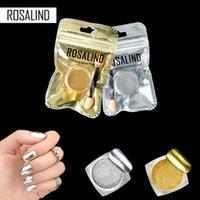miroirs d'or achat en gros de-Rosalind 1 PCS D'or / Sliver Glitter Poudre Miroir Magique Chrome Chrome Pigment Décorations Shine Poudre Pour Vernis À Ongles Gel