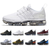 Wholesale light cushions for sale - 2019 Air Cushion UTILITY running shoes men triple white black REFLECTIVE Medium Olive Burgundy Crush designer mens trainers sports sneakers