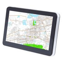 jugador de china gratis al por mayor-704 7 pulgadas camión coche Navegador GPS de navegación con mapas gratis Win CE 6.0 Pantalla táctil / E-libro / Video / Audio / Juego Player