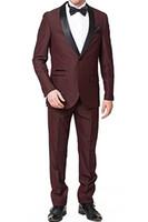Wholesale mens navy wedding suit resale online - Classic Shawl Lapel tuxedos groom wedding men suits mens wedding suits tuxedo costumes de smoking pour hommes men Jacket Pants Tie