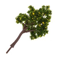 Wholesale landscaping fruit trees for sale - Group buy 10pcs Scenery Landscape Model Decoration Yellow Fruit Trees cm