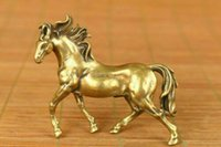 Wholesale antique bronze horse statues for sale - Group buy Rare Japan old bronze hand carving horse statue noble decoration