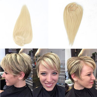 Wholesale blonde toupee for sale - Group buy 613 Toupee Hair For Women Human Hair Blonde Clip Ins x4 Inch Dolago Volume Extension Rosa Queen