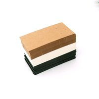 ohrring anzeige hängende karte großhandel-Heiß! 1000pcs / lot 5 * 9cm Kraft Paper Halskette oder Ohrring Verpackung Karten Fall-Umbauten Mode Ornament Anzeige Brown-Karte.