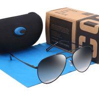 paquetes masculinos al por mayor-COOK Nueva Marca Gafas de Sol Polarizadas Hombres Diseñador Moda Vintage Gafas de Sol de Pesca UV400 Espejo Conductor Gafas de Sol Masculinas 7 colores con packag