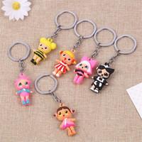 Wholesale handbag keychain fashion resale online - Hot Dolls Keychain Big Eye Doll Keyring Fashion Keys Ring Handbag Chain Pendant Cartoon keychains Gift Party Favor