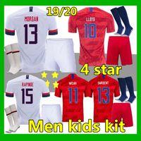usa fußball socken groihandel-Adult Kit + Socken 2019 USA Pulišić Fußball-Jersey-19 20 DEMPSEY BRADLEY ALTIDORE MORGAN Amerika Fußball Jerseys USA Hemd