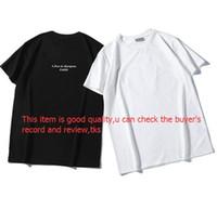 ingrosso camicie maniche-Shirt T Mens di estate casuale del progettista Mens allentato marca magliette con lettere Stampa maniche corte superiore di vendita di lusso shirt uomo T formato S-2XL
