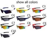 neue modebrillen für männer großhandel-9164 neue marke mode mann uv sport sonnenbrille brille frauen fahrrad sonnenbrille radfahren sport sonnenbrille 10 farben gute qualität moq = 10