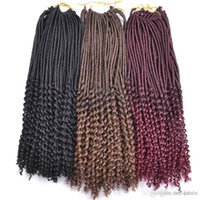 Wholesale afro jerry kinky hair for sale - Group buy Kanekalon Fiber Kinky Dreadlocks Crochet hair Afro Hot inch Synthetic Twist Braiding Hair Extensions Jerry Curly Faux Locs