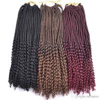 kanekalon tresses afro crépus achat en gros de-Kanekalon Fiber Kinky Dreadlocks Crochet cheveux Afro Hot 20 pouces Synthétique Twist Tressage Extensions de Cheveux Jerry Curly Faux Locs