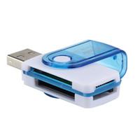 carte ms achat en gros de-Lecteur de carte USB 2.0 Lecteur de carte mémoire multi-en-un pour Micro SD / TF M2 MMC SDHC MS Duo
