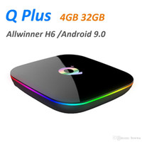 Wholesale android tv plus box for sale - Group buy Q plus Smart Android TV Box GB GB Allwinner H6 P H K Media Player G Wifi Wireless Set Top Box