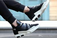 y3 zapatos hombres al por mayor-Y3 zapatos netos transpirables zapatos deportivos 2017 nuevos juegos de redes para hombre de guerreros negros Y3 zapatos para hombres Yamamoto Yoshii perezoso