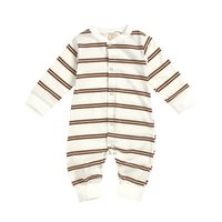 Wholesale baby boy coverall jumpsuits resale online - Newborn Baby Girls Clothes Long Sleeve Romper Infant Boys Stripe Jumpsuit Toddler Kids Cotton One Piece Coverall l