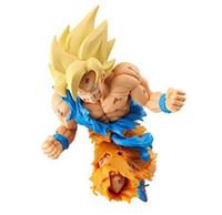 Wholesale frozen dolls resale online - NEW cm Dragon Ball Super saiyan Son Goku Kakarotto Shock Action figure toys doll Christmas gift with box Y190529