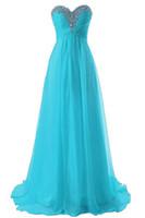 champagner farbe brautjungfern kleider großhandel-Hot Sale Günstige Brautjungfernkleider Grün Blau Violett Champagne-rote Farbe mit Beadings Chiffon Hochzeit